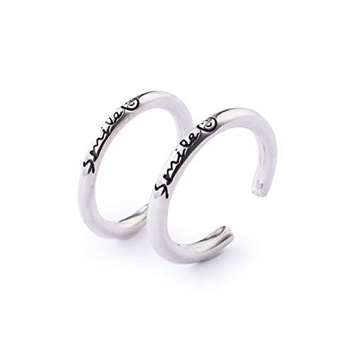 Beydodo Sterling Silber Ringe Damen mit Gravur