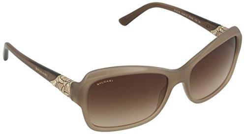 Bulgari Unisex-Erwachsene 8153 Sonnenbrille, Schwarz (Turtledove), 57