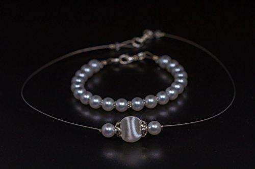 Brautschmuck Hochzeitsschmuck Set Halskette Armband Ohrringe