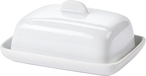 Bol à service en céramique avec couvercle pour une portion de beurre, ronde ou carrée Square