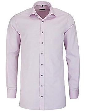 ETERNA Modern Fit Hemd super langer Arm Struktur rosa AL 72