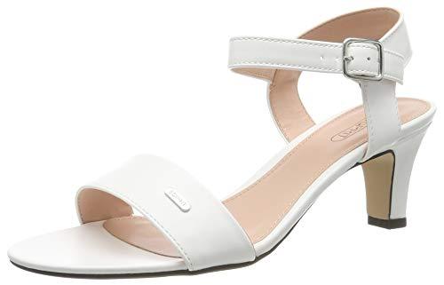 ESPRIT Delfy, Sandali con Cinturino alla Caviglia Donna, Bianco (White 100), 37 EU