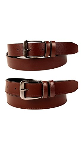 FEDRIGO Men's Faux Leather Belt DNA-FMB-1019-34_Brown_34