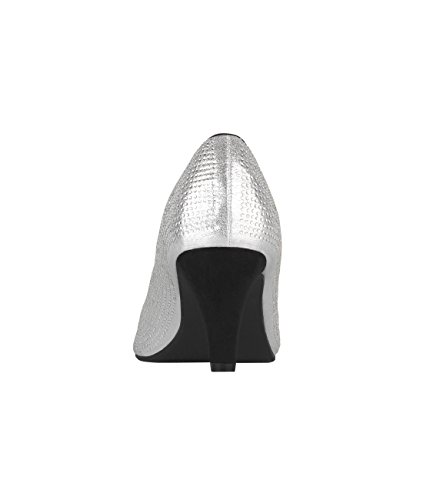 Krisp® Ladies Tacco A Spillo Con Tacco In Argento (5487)