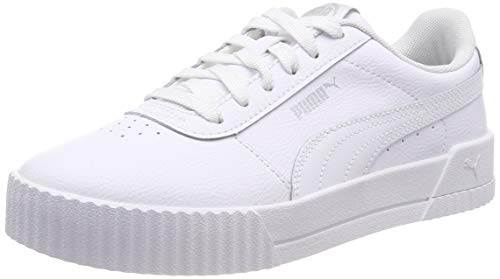 Puma Damen Carina L Sneaker, Weiß (Puma White-Puma White-Puma Silver), 38 EU