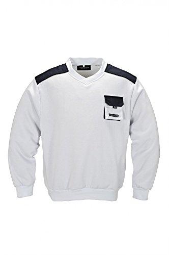 Terratrend Job 3815-3XL-162 Pullover, Weiß-Grau, 3XL