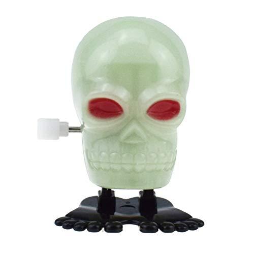 Top Kostüm Spinning - Amosfun Wind Up Clockwork Spielzeug Jumping Skull im Dunkeln leuchten Spielzeug für Kinder Halloween Dekor Karneval Kostüm Ball Horror Thema Party Requisiten