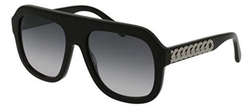 Stella McCartney Unisex-Erwachsene SC0065S 001 Sonnenbrille, Schwarz (001-Black/Silver), 54