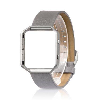 band-fr-fitbit-blaze-mit-metallrahmen-ersatzband-fr-wearlizer-smart-watch-mit-metallrahmen-echtleder