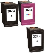 Printing Pleasure 3 XL Cartuchos de tinta compatibles para HP DeskJet 3630 2130 2132 1110 ENVY 4527 4524 4520 OfficeJet 3830 3831 4650 4655 4656 4658 5230 | Reemplazo para HP 302XL (F6U68AE & F6U67AE)