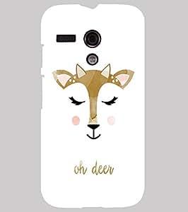 Back Cover for Moto G (1st Gen) Oh deer