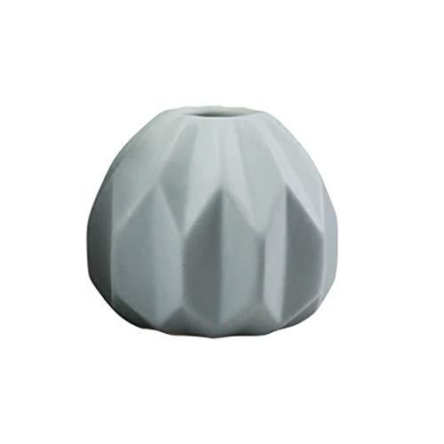 VROEPSX Handwerk Schmuck Dekoration Getrocknete Blumen Vase Keramik Ornament Für Wohnzimmer Tisch Tv Schrank Dekoration (Color : Blue) -