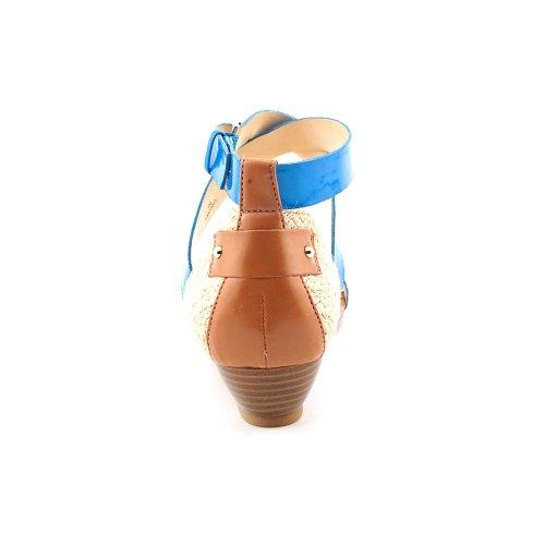 Enzo Angiolini Keddy Synthétique Sandales Compensés Blue Mu