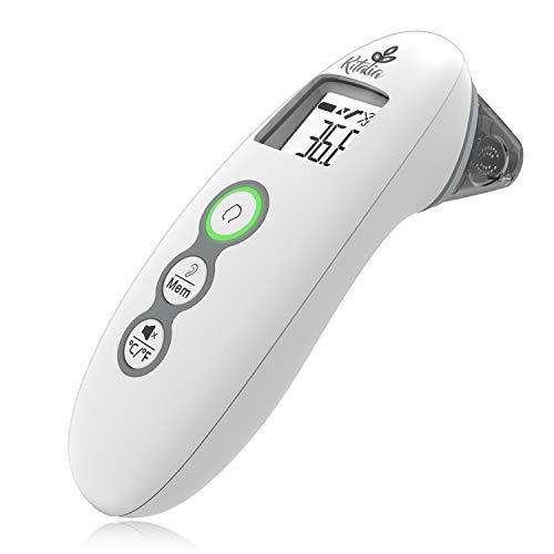 Ritalia termometro digitale infrarosso modalità fronte e orecchio. Certificato e approvato CE/FDA. Clinicamente testato. Adatto per neonati, bambini ed adulti.