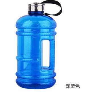 (wiBille Gym Wasser Flasche 2,2Liter Trinkflasche mit Griff Großer Kapazität für Sport Reise Blau)