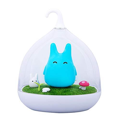 Dicomi LED Nachtlicht Tragbare Micro Landschaft Dekoratives Lampe 5V 0,8W für Kinderzimmer, Baby, Outdoor, Gang, Schlafzimmer, Bad, Wohnzimmer Blau -