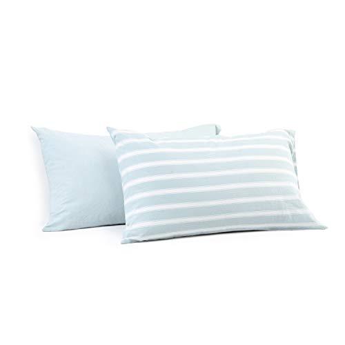 Miu Hin Kissenbezüge, 100% Gewaschene Baumwolle, modernes Design, mit Umschlagverschluss, 2 Stück Modern Standard (20