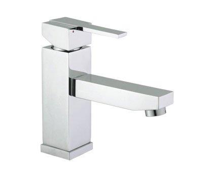 Square Edge - Grifo mezclador para lavabo (cromo)