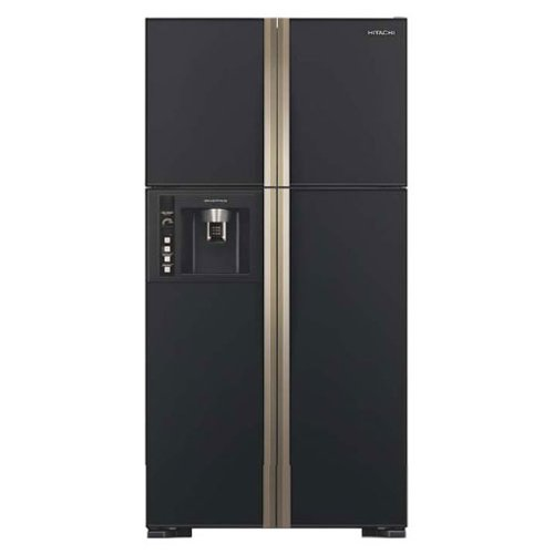 Hitachi 638 L In Frost-Free Side-by-Side Refrigerator (R-W720FPND1X, Glass Black)