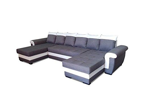 Modernes Ecksofa mit Schlaffunktion Ivett U Wohnlandschaft Bettkasten Schlafsofa Groß U Form Big Sofa XL 19