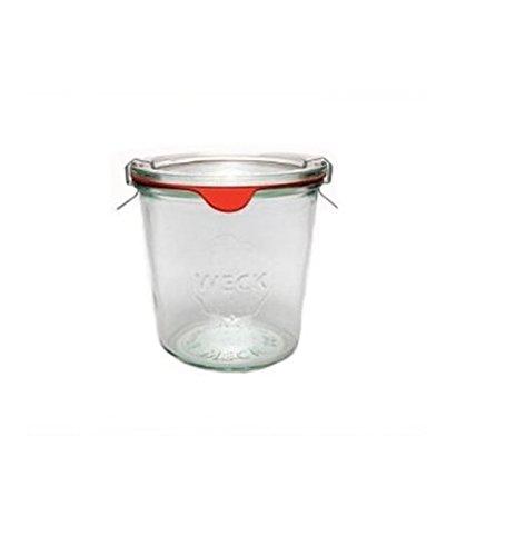 Weck Sturzgläser 580 ml 6er Set + 6 Gummiringe + 12 Klammern - Joghurt-gläser Glas