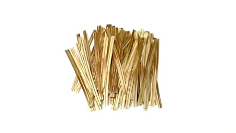 100 Gold 3 Inch 75mm Plastic Twist Ties By Classikool