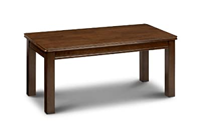 Julian Bowen Canterbury Coffee Table, Mahogany - cheap UK coffee table shop.