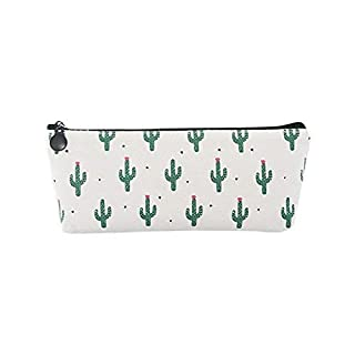 Lvcky 1Pc Special Cactus Pencil Case Holder Pouch Canvas Pen Bag Storage Organizer Zipper For Girls Adults Travel School Gift #2