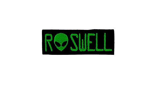 Preisvergleich Produktbild Patch-Abzeichen bestickt zum Aufbügeln Biker Alien UFO Roswell Außerirdische