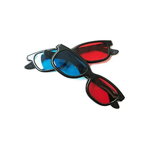 JER 3D Brille glassese Tuch Cyan Anaglyphen einfache Art 3D Movie Game Extra Upgrade für TV Film Theater Schmuck