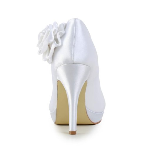 Jia Jia Wedding 3701F Scarpe Sposa Scarpe col tacco donna Bianco
