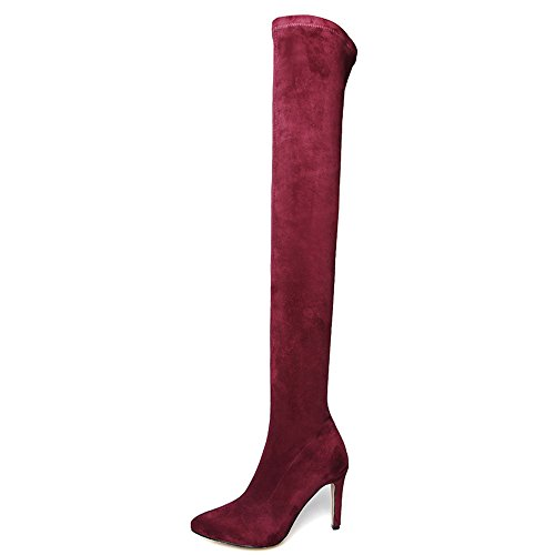 Nine Seven - Sopra al ginocchio donna Burgundy