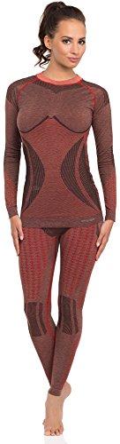 Merry Style Damen Funktionsunterwäsche lange Unterhose thermoaktiv 60w20 Weinrot