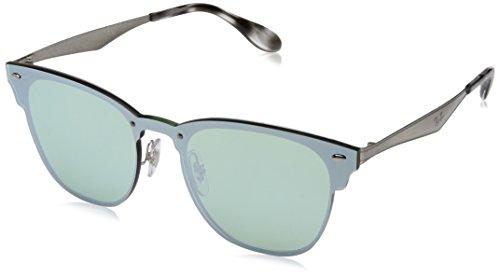 Ray-Ban Rayban Unisex-Erwachsene Sonnenbrille 3576n, Brushed Silver/Darkgreenmirrorsilver, 41