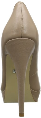 Buffalo London 112-2104 LEATHER Damen Plateau Pumps Beige (DUSTY 01)