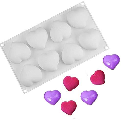 Hearthrousy Dessert Formen Silikon Silikonform für Kuchen Silikon Backform Silikon Backform Mousse Herz Hochzeit 3D Silikonformen Kuchen Dekorieren Tools Backformen (Herz Kuchen Dekorieren)