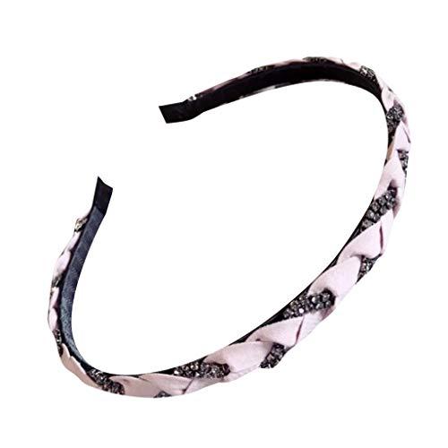 TOPGKD beliebt Handbesetztes feinkantiges Stirnband aus Haselnussrattan für DamenIns (Katze Kostüm Make Up Kids)