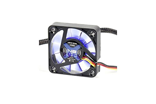 (((noiseblocker))) BlackSilentFan XM2 - 40x40x10mm - 3Pin - 3800U/min - 14dbA - 6.7m3/h (30mm Lüfter)