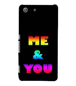 Colourful Me & You 3D Hard Polycarbonate Designer Back Case Cover for Sony Xperia M5 Dual :: Sony Xperia M5 E5633 E5643 E5663