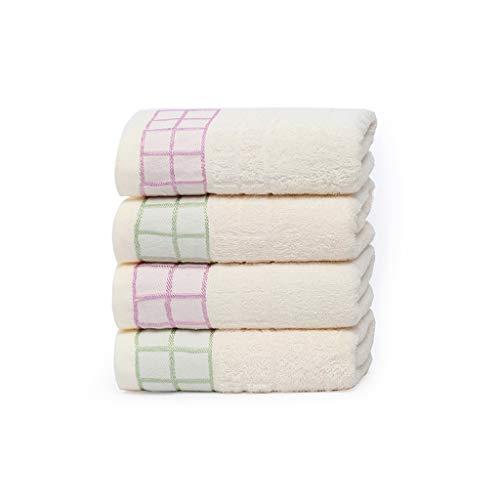 BNBO-L HWH Waschen Sie Ihr Gesicht Handtuch, Baumwolle Verdickung Hautfreundliche Baby Badetuch Erwachsenes Kind Laufen Klettern Abwischen Schweiß Handtuch 72 * 33 cm 4 STÜCKE Saugfähige Handtücher