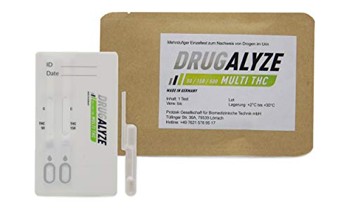 3x DRUGALYZE Drogentest Multi THC - Made in Germany - Cannabis Marihuana -