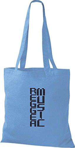 ShirtInStyle Stoffbeutel Musik Beutel Reggea Music Baumwolltasche Beutel, diverse Farbe surf blue