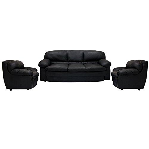 Woodpecker Lavendar Sofa Set 3-1-1 (Black)