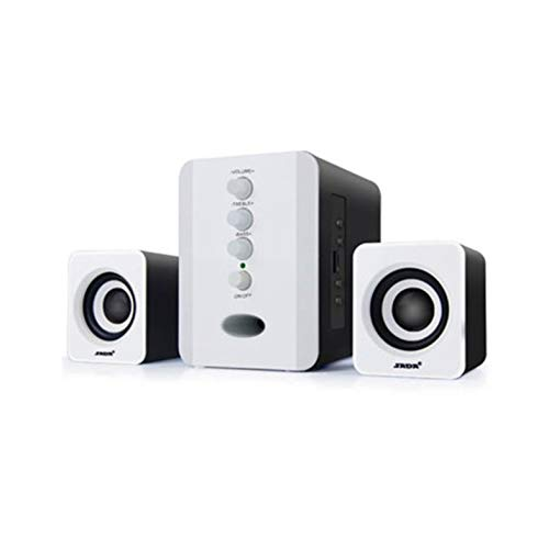 Gamogo SADA V-196 USB Altoparlante Computer cablato Bar Stereo Subwoofer Potente Lettore Musicale Bass Surround Sound Box Ingresso Audio da 3,5 mm per PC Laptop Smartphone Tablet MP3 MP4