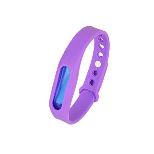Kroo Mosquito Armband Insektenschutzmittel Armband Schutz und verstellbarer Armband Gurt für Babys Audlt und Haustiere violett