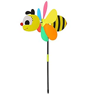 lailongp 3D arge Animal Bee Windmill,Colorful Wind Spinner for your Yard or Garden,Kids Toy,DIY Gift