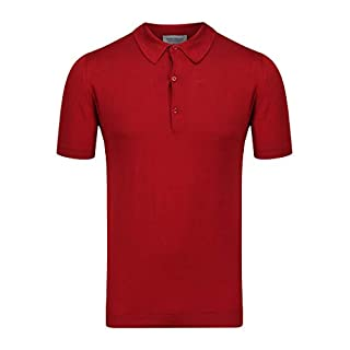 John Smedley Adrian in Anther Red Shirt-SML