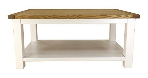 Cabinet Bits Embouts pour Meuble Table Basse Ouvert avec poignée de Laiton, Bois, Blanc