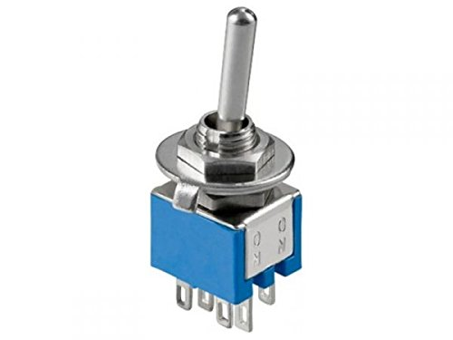 modellbahn-exklusiv 5180 - Kippschalter Miniatur 2xUM EIN-AUS-EIN 6A/125VAC -