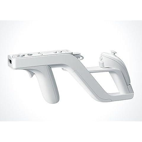 Pistola Zapper Para Nintendo Wii Controlador Remoto Nunchuk Color Blanca n60